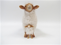 Colin's Creatures Hand Made in America Sheep Figures, Tunis Ewe Straddling Lamb, Mother's Day