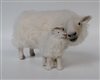 Handmade Mother's Day Sheep Figurines by Colin's Creatures, Welsh Mountain Ewe Cheek to Cheek with Her Lamb