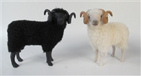 Colin's Creatures Handmade Porcelain Sheep figures, Shetland