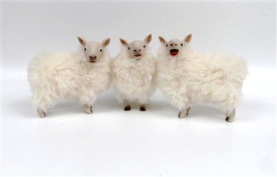 Colin's Creatures Handmade Primitive Sheep,  Cheviot Sheep Flock