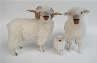 Colin's Creatures Handmade Sheep Figurines, Drysdale New Zealand Family