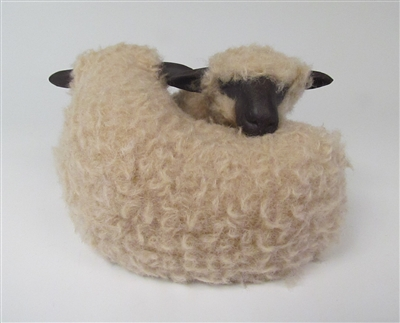 Colin's Creatures Handmade Sheep Figurines, Oxford Sheep Lying