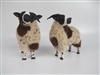 Colin's Creatures Handmade Sheep Figurines, Jacob Rams