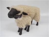 Handmade Sheep Figures by Colin's Creatures, Oxford Ewe Snuggling Small lamb