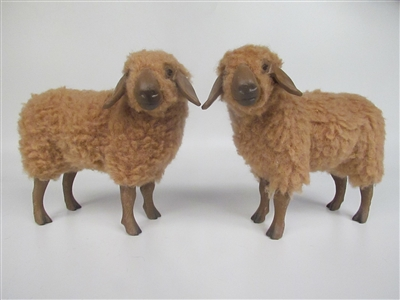 Colin's Creatures German Braune Bergschaf Handmade Sheep Figurines