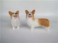 Large Red Corgi Airbrush Painted