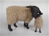 Colin's Creatures Handmade Mother's Day Sheep of Color Figurines,Suffolk Ewe Kissing Lamb