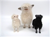 Colin's Creatures Black sheep, Cotswold Ewe with Large White Lamb and Black Lamb