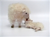 Colin's Creatures Sheep Figurines,  Cotswold Standing Ewe Licking Lying Lamb