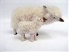 Colin's Creatures SHeep Figurines, Cotswold Ewe Nose to Nose with Lamb, Long