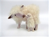 Colin's Creatures Handmade Sheep Figurines,Cotswold Ewe Nose to Nose with Lamb Under