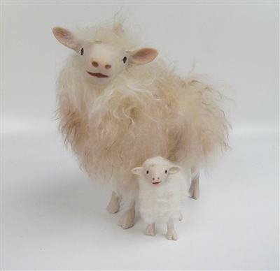 Colin's Creatures Porcelain Sheep Figures, Faroe Island Family