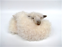 Colin's Creatures Handmade Sheep Figurines, Cotswold Intertwined Twins