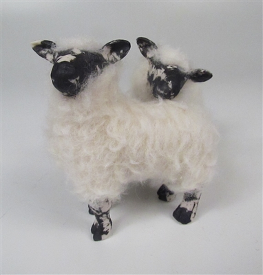 Handcrafted Scottish Christmas Sheep by Colin's Creatures, Scottish Blackface Rams