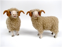 Colin's Creatures Life Like Sheep Figurines, Dorset Rams