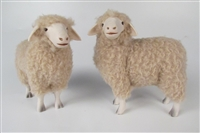 Colin's Creatures Handmade Porcelain Sheep Figurines, Rambouillet