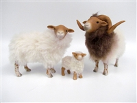 Colin's Creatures Fine Porcelain Sheep Figurines, German Drenthe Heath Family