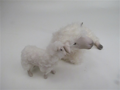 Colin's Creatures Sheep Figurines, Cotswold Ewe Spooning with Lamb