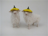 Small Elf Lambs w/Buttercup Hats