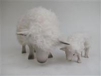 Colin's Creatures Handmade Sheep Figurines, Cotswold Ewe Sleeping With Lamb