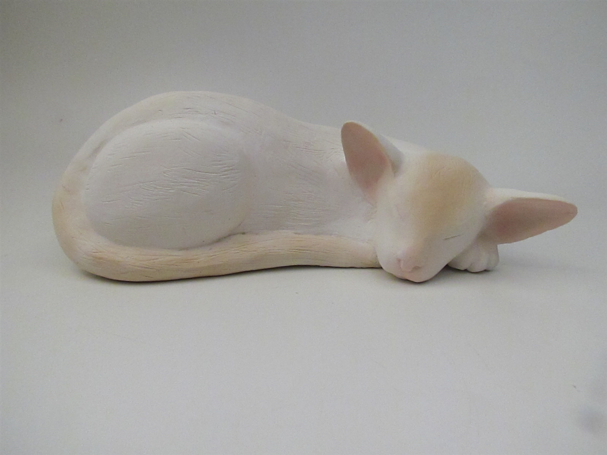 Colorpoint Shorthair Cat-Shaped Cremation Urn for Ashes