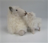Colin's Creatures Sheep Figurines, Mary's Little Lamb Kissing Mommy Cotswold