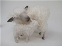 Colin's Creatures Life Like Sheep figurines, Cotswold Ewe Nursing Lamb