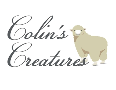 Colin's Creatures Handmade Sheep Figures, Galway Ewe Lying with Twins Baaing