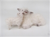 Colin's Creatures Handmade porcelain sheep figurines, Cotswold Ewe Kissing Lamb