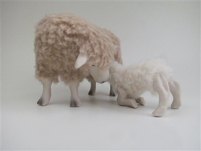 Colin's Creatures Handmade Sheep figures for Christmas, Leicester Longwool Flock