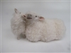 Colin's Creatures Handmade sheep figurines, Galway Ewe with Lamb Pillow