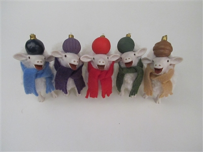 Baaing Elf Lambs w/Ornament Hats Individual