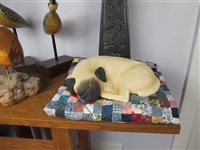 Colin's Creatures Handmade Stoneware Pug Pet Cremation Urn