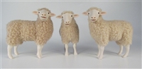 Colin's Creatures American Handmade Sheep Figurines, Polypay Flock