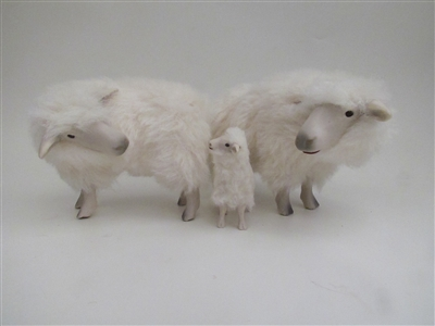 Handmade Sheep Figures by Colin's Creatures, Rya Family