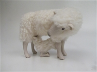 Colin's Creatures Handmade Porcelain Sheep figures, Shetland Family