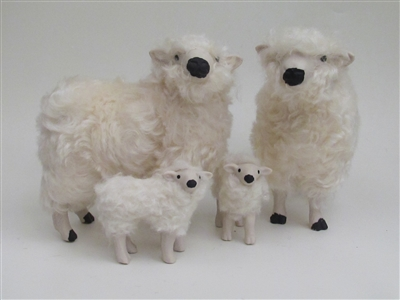 Colin's Creatures porcelain sheep figurines, Dartmoor Family