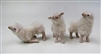 Colin's Creatures Handmade Porcelain Lambs,  Doll House Lambs